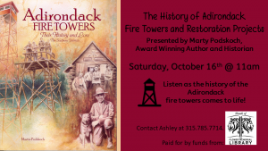 History of the Adirondack Fire Towers flyer.