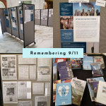 4 images of Flower Library's 2021 9/11 display