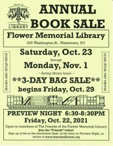 Friends of the Library Book Sale flyer